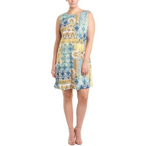 London Times Plus A-Line Dress
