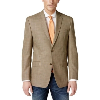 MICHAEL Michael Kors Mens Two-Button Blazer Classic Fit Pattern