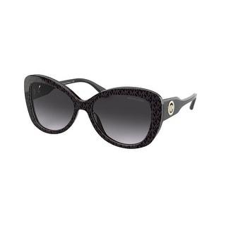 Link to Michael Kors MK2120F 33558G 58 Dark Brown Mk Jacqaurd Logo Woman Butterfly Sunglasses Similar Items in Women's Sunglasses