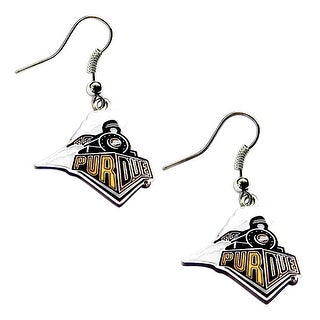 "Purdue Boilermakers ""Train"" Dangle Logo Earring Set NCAA Charm Gift"
