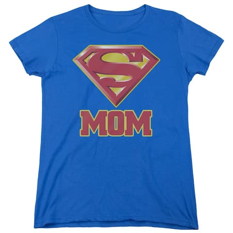 Superman Super Mom Womens Short Sleeve Shirt