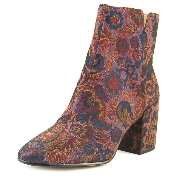 Aldo Sully Women Round Toe Canvas Multi Color Ankle Boot