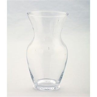 Diamond Star 50004 7 x 4 in. Glass Vase Clear