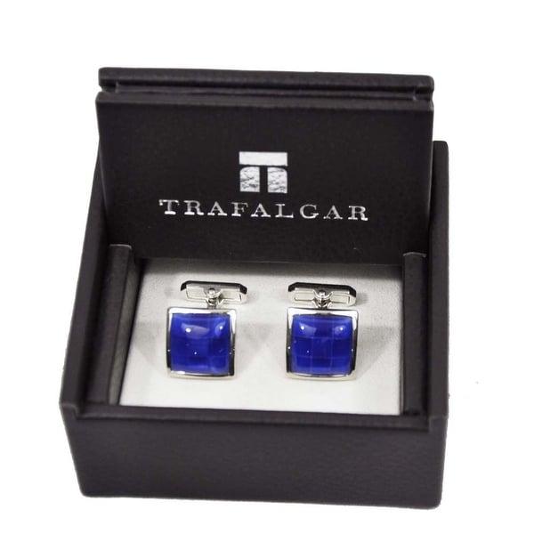 Trafalgar Blue Checker Cuff Links Blue