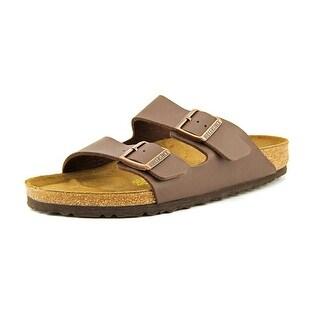Birkenstock Arizona Men Open Toe Leather Brown Slides Sandal