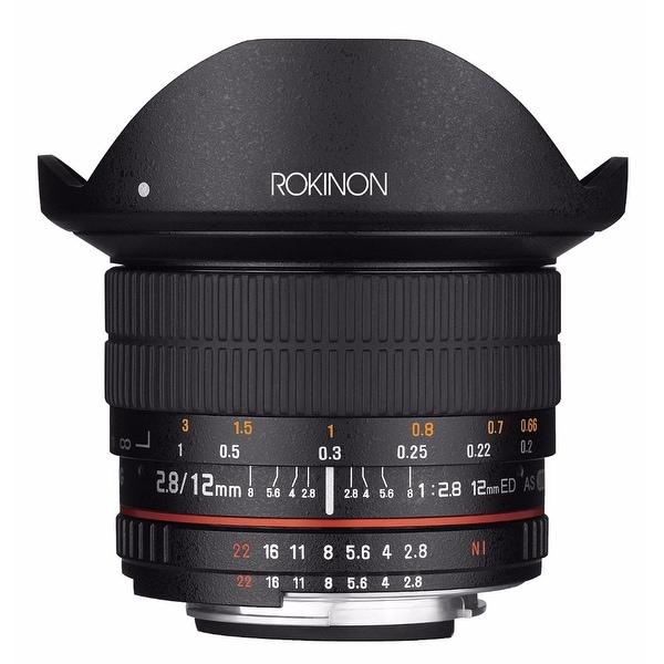 Rokinon 12mm f/2.8 ED AS IF NCS UMC Fisheye Lens for Canon EF Mount - Black