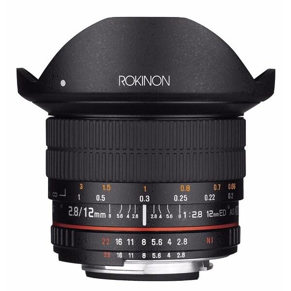 Rokinon 12mm f/2.8 ED AS IF NCS UMC Fisheye Lens for Nikon F Mount with AE Chip - Black