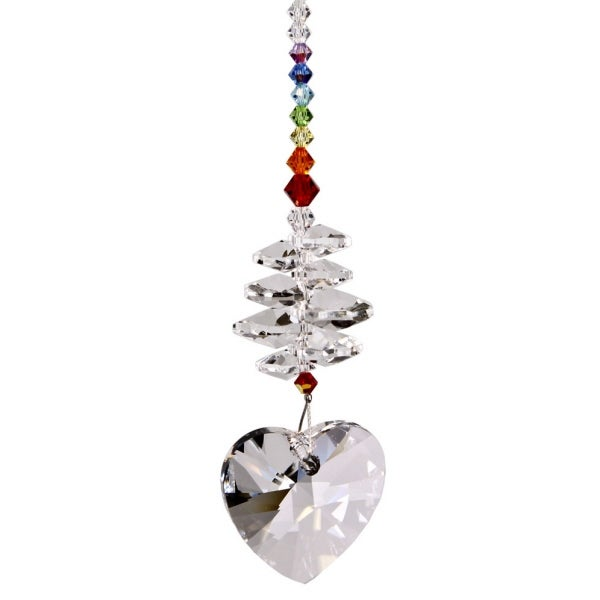 Woodstock Rainbow Makers Crystal Brilliance Cascade Heart Suncatcher