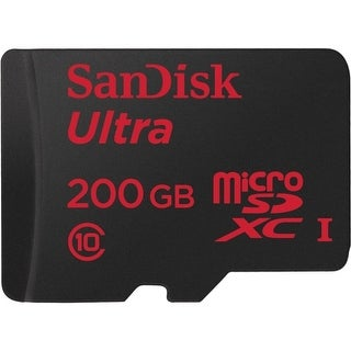 SanDisk SDSDQUAN-200G-A4A SanDisk Ultra 200 GB microSDXC - Class 10/UHS-I - 90 MB/s Read