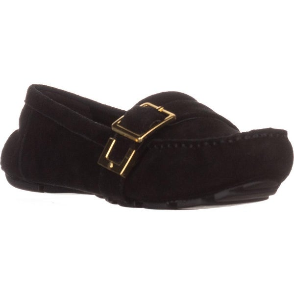 Nine West Blueberry Flat Loafers, Black Suede