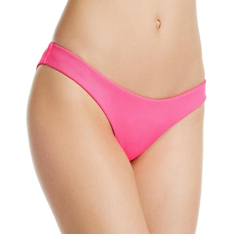 Aqua Womens Hipster Ribbed Swim Bottom Separates - Pop Pink