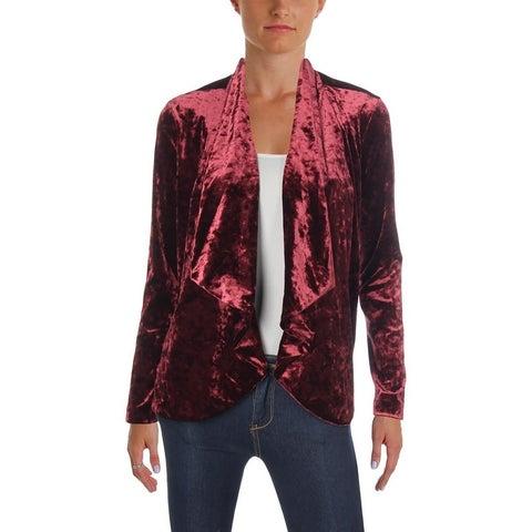 Vince Camuto Womens Open-Front Blazer Velvet Drapey
