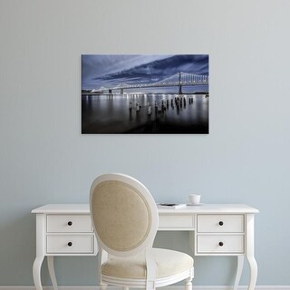 Easy Art Prints Toby Harriman Visuals's 'The Bay Lights' Premium Canvas Art