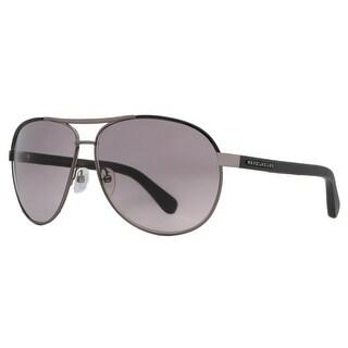 Marc Jacobs MJ 475/S 54F EU Dark Ruthenium Black Leather/Grey Aviator Sunglasses - dark ruthenium/black - 63mm-12mm-135mm