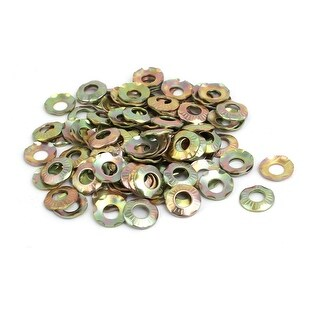 M5 Inner Dia Carbon Steel Claw Locking Washer Bronze Tone 100pcs