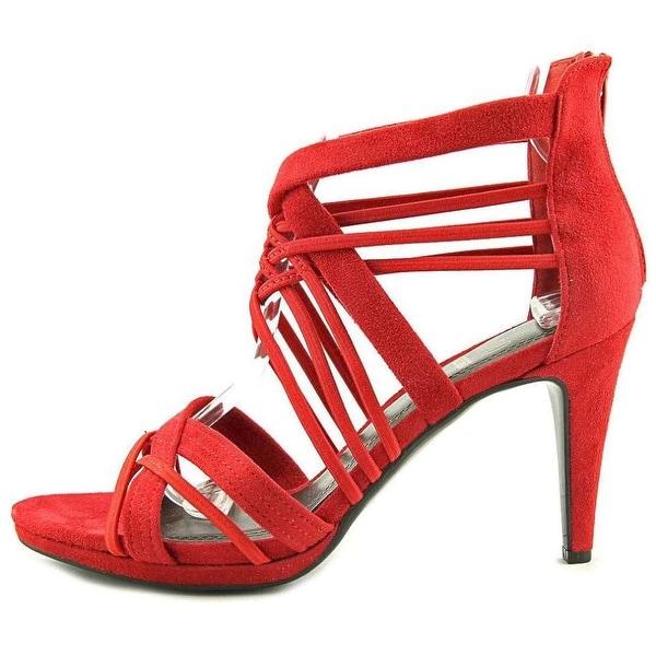 Impo Womens Suki Open Toe Ankle Wrap Classic Pumps