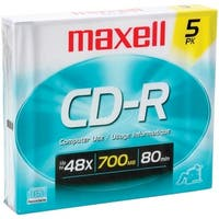 Maxell 623205/648205 700Mb 80-Minute Cd-Rs (5 Pk; Slim Jewel Cases)