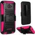 Insten Hard PC/ Silicone Dual Layer Hybrid Case Cover with Stand/ Holster For Coolpad Catalyst - Thumbnail 3