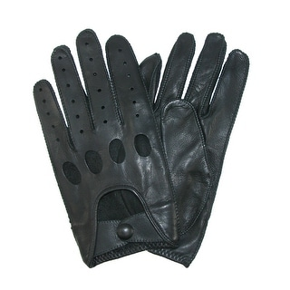 Isotoner Men's Classic Leather Unlined Driving Gloves