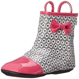 Robeez Happy Hopper Infant Pattern Rain Boots - 3-6 mo