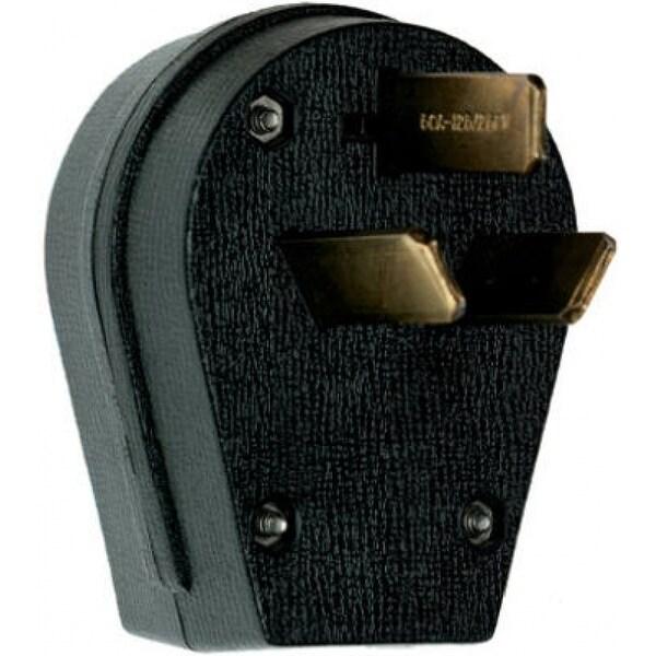 Pass & Seymour Miscellaneous Angled Plug, Black