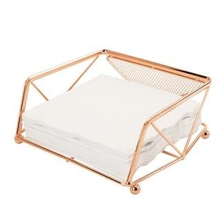 Kitchen Details Geometric Napkin Holder, Copper, 8.25x7x3.25 Inches - N/A