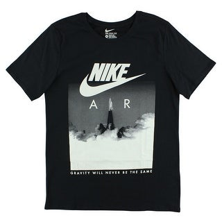 9189fe43 Shop Nike Mens T-Shirt With Rocket Print Black - BLACK/WHITE - Free  Shipping On Orders Over $45 - Overstock - 22614536
