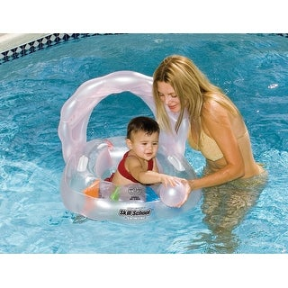 """24"""" Inflatable Oyster Shaped Swimming Pool Toddler Seat Set - Pink"""