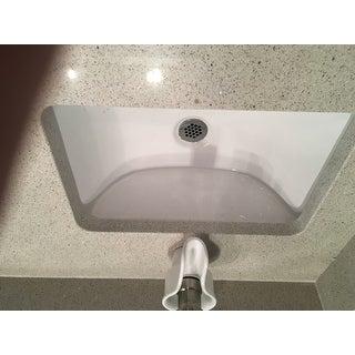 Ticor White Vitreous Porcelain Undermount Bathroom Sink