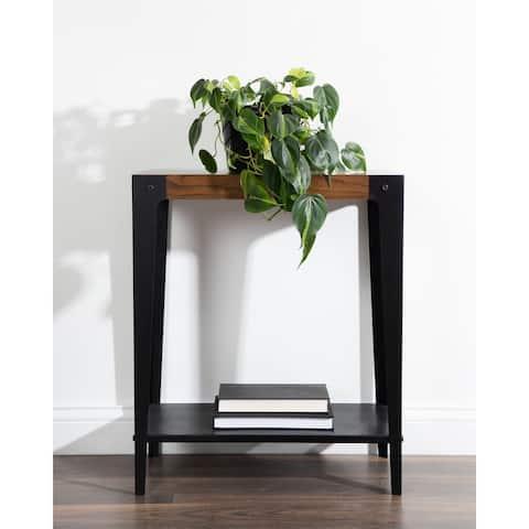 Kate and Laurel Vexler Wood and Metal Side Table - 22x12x26