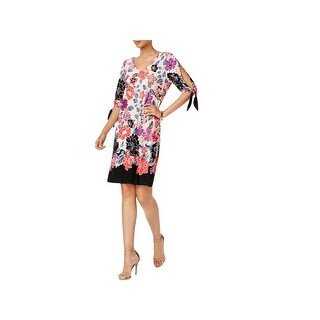 MSK Womens Semi-Formal Dress Above Knee Floral Print
