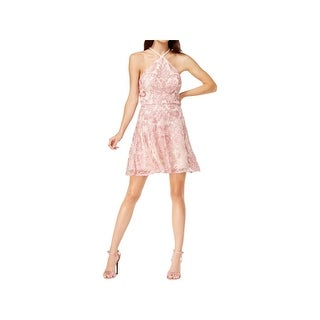 Speechless Womens Juniors Special Occasion Dress Glitter Mini - 11