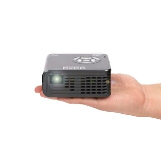 AAXA P5 LED Portable Pico Projector, 1280x720P HD Resolution, 135 Min Battery, 20,000 Hour LED, Onboard Media Player, 300 Lumen