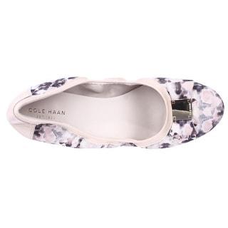 Cole Haan Tali Bow Ballet Flats - Pink Purple Multi
