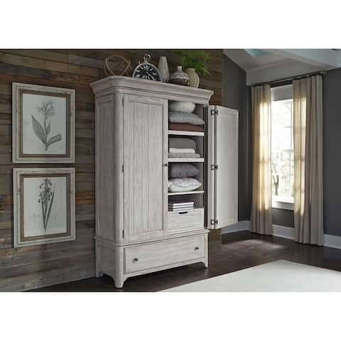 Farmhouse Reimagined Antique White Armoire