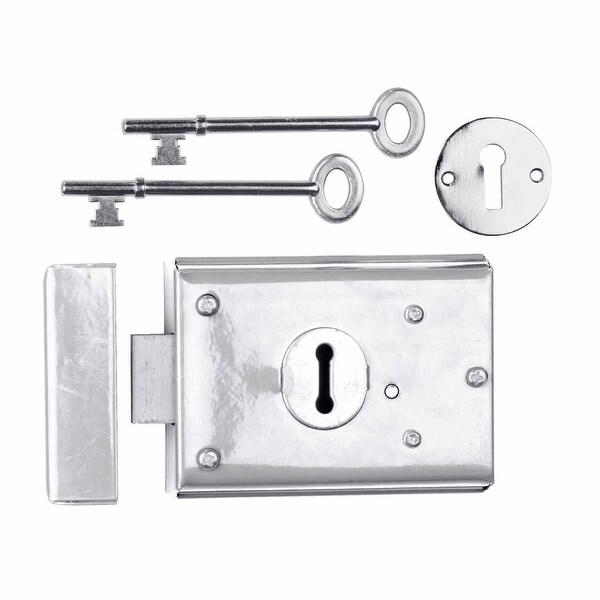 Rim Locks Victorian Chrome 3 H x 4 7/8 W | Renovator's Supply
