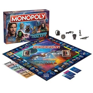 USAopoly Guardians of the Galaxy Volume 2 Monopoly Game
