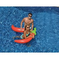 """57"""" Red Dual Pool Peppers Novelty Inflatable Swimming Pool Float Decorations"""