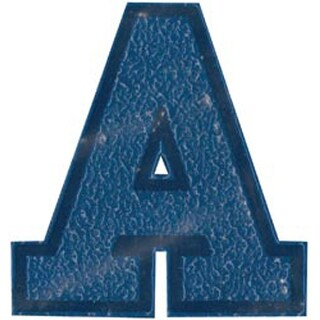 "Royal Blue - Soft Flock Iron-On Letters & Numbers 1.75"" Collegiate"