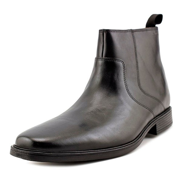 Clarks Narrative Tilden Zip Men Round Toe Leather Black Bootie