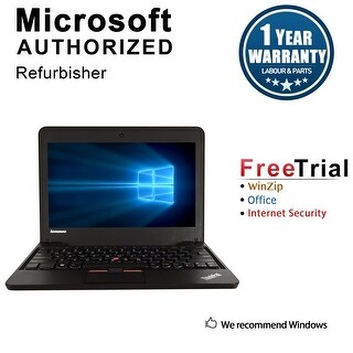 "Refurbished Lenovo ThinkPad X130E 11.6"" Laptop AMD E300 1.3G 4G DDR3 320G Win 10 Home 64 1 Year Warranty - Black"