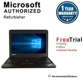 "Refurbished Lenovo ThinkPad X130E 11.6"" Laptop AMD E300 1.3G 4G DDR3 320G Win 7 Home Premium 64 1 Year Warranty - Black"