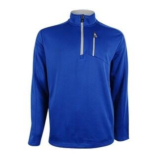 IZOD Men's Performance 1/4 Zip Golf Jacket - True Blue