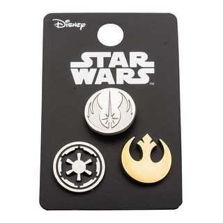 Star Wars Pin Pack: Rebel Alliance, Jedi Order, and Galactic Empire Cut Out - multi
