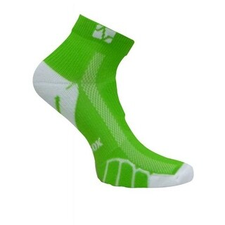 VT 0210 Ped Light Weight Running Socks, Lime Green - Small