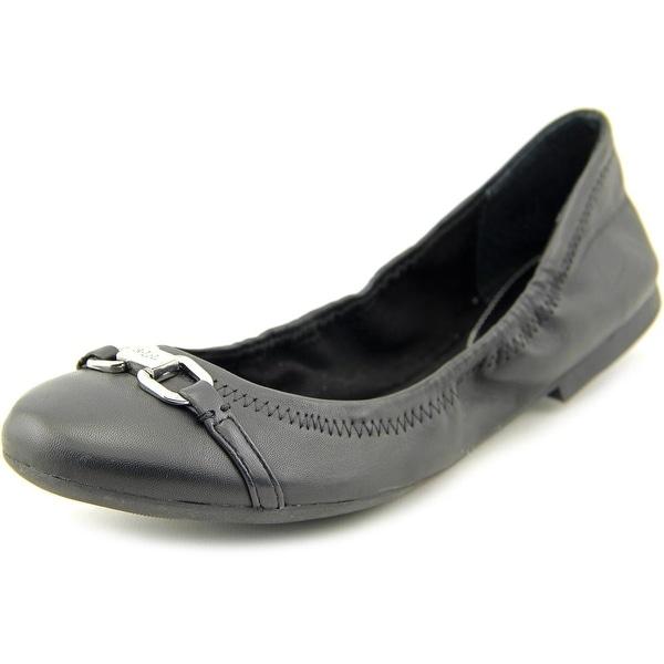 Lauren Ralph Lauren Betsy Women Round Toe Leather Black Ballet Flats