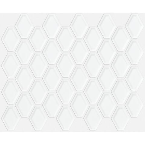 "Shaw CS68P Elegance - 10"" x 13"" Hexagon Geometric Mosaic Wall Tile -"