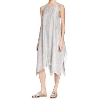 Eileen Fisher Womens Petites Casual Dress Silk Printed