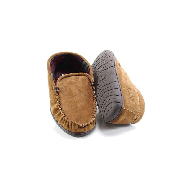 Staheekum Brown Men's Size 13M Moccasin Slippers Leather Shoes