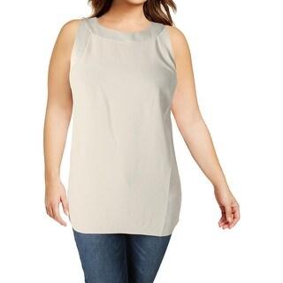 Lauren Ralph Lauren Womens Plus Brista Tank Top Mixed Media Sleeveless